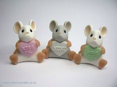 Little Sweetheart Mice by Quernus crafts
