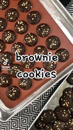Cookie Recipes, Dessert Recipes, Desserts, Brownie Cookies, Diy Food, Brownies, Pudding, Baking, Random