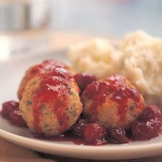 Turkey Meatballs With Sage And Cranberries Recipe — Dishmaps