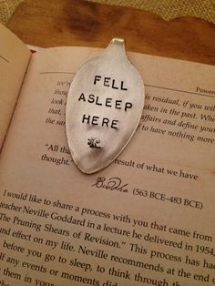 Hand Stamped Bookmark Vintage Bookmark Silver by ThirtySixDesign, $20.00