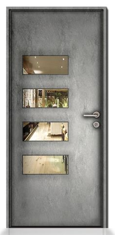 Luz-4-Panel-Asymmetric-PW - Wrought Iron Doors, Windows, Gates, & Railings from Cantera Doors