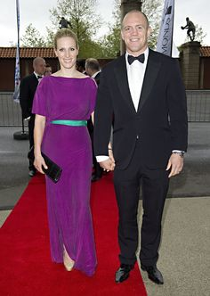 Zara Phillips at the Rugby for Heroes charity dinner in May 2012.