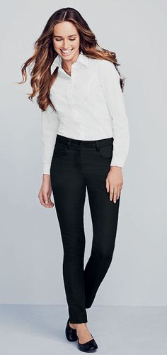NEW Ladies Slim Leg Twill Trouser, Black