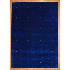 Shop for Indo Hand-knotted Navy/ White Gabbeh Wool Rug x Get free delivery On EVERYTHING* Overstock - Your Online Home Decor Store! Online Home Decor Stores, Hand Knotted Rugs, Rug Making, Color Show, Colorful Rugs, Navy And White, Rug Size, Primary Colors, Wool Rug