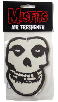 Official Misfits Fiend Skull Logo design car air freshener with Cherry scent measuring approx 100mm x 75mm US Import C D Visionary Inc Officially