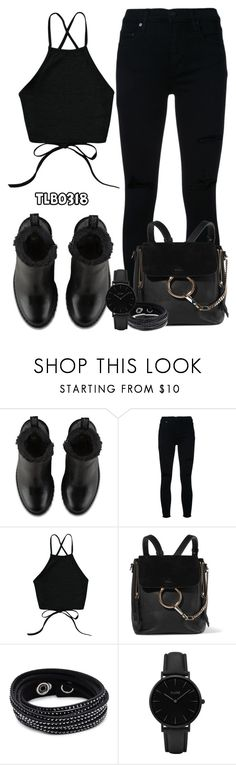 """""""Magdalena Boots From Dr. Martens"""" by tlb0318 on Polyvore featuring Dr. Martens, Nobody Denim, Chloé, Swarovski and CLUSE"""