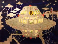 "Drawing ""Subway Saucer Drawing 2012"" by Enrico Miguel Thomas"