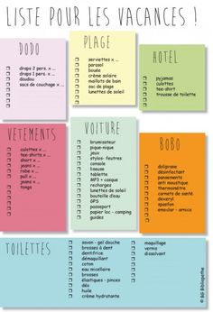 jpg liste pour savoir quoi empor… – Holiday and camping ideas Planner Organisation, Journal Organization, Travel Organization, Bujo, Cheap Hotels, Teaching French, Good To Know, Bullet Journal, Viajes
