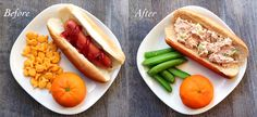 Before and After Kid Lunch Makeovers   Healthy Ideas for Kids