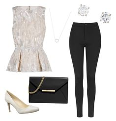 """""""Untitled #6"""" by brenna-mccarty on Polyvore featuring beauty, Elie Saab, Topshop, Nine West, MICHAEL Michael Kors and Tiffany & Co."""