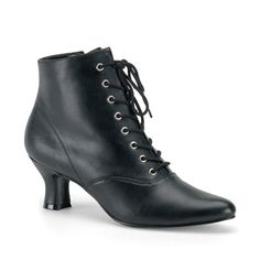 Pleaser VICTORIAN-35 Victorian Style Ankle Boots - Funtasma by Pleaser Shoes