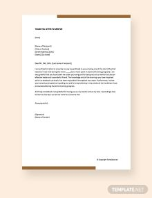 Free Thank You Letter To Mentor Thank You Letter Docs Templates