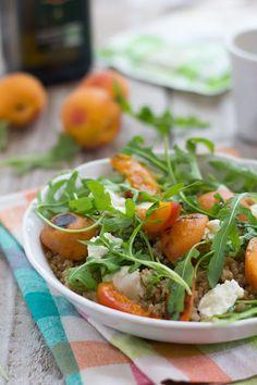 Salade de quinoa aux abricots rôtis
