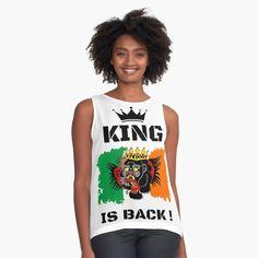 #thekingisback #conormcgregor #ufc #mma #findyourthing #shirtsonline #trends #riveofficial #favouriteshirts  #art #style #design #shopping #redbubble #digitalart #design #fashion #phonecases #customproducts #onlineshopping #accessories #shoponline #onlinestore Conor Mcgregor, Black Edition, Ufc, Chiffon Tops, King, Trends, Tank Tops, Happy Shopping, Accessories