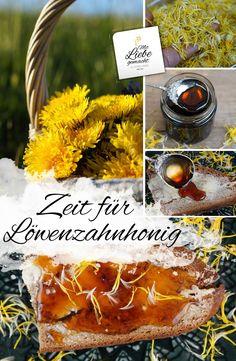 Make dandelion honey yourself – fruity, fine seduction – # … – zopf - Yanna's Donuts Laden Apple Cider Vinegar Diet, Apple Cider Donuts, Dandelion Recipes, Taraxacum Officinale, Edible Wild Plants, Cheesecake, Handmade Kitchens, Kitchen Gifts, Diy Food
