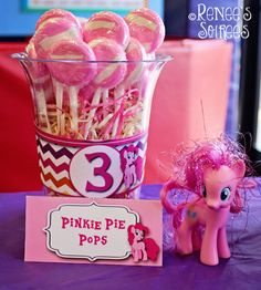 Pinkie Pie Pony snack at a Pony Party
