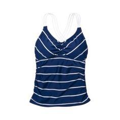Love this top!     Merona Womens Striped Tankini Swim Top