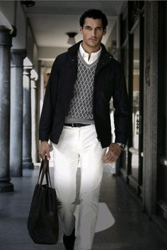 White Slacks: Not an easy style to pull off, but this is perfect!