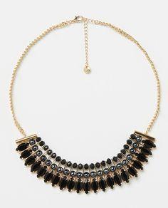 ad3b0eee67c3 Collar de Piedras Negras - LA FASHION