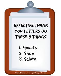 How To Write The Perfect Donor Thank You Letter  Fundraising