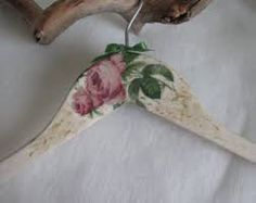 Image result for wooden hangers decoupage