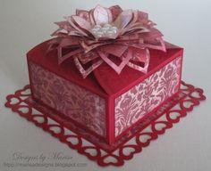 """""""Valentine's Day Box"""" using Spellbinders die templates."""