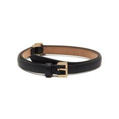 Mulberry - Single Wrap Belt in Black Calf Nappa