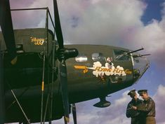 <strong>Not published in LIFE.</strong> American bomber and crew during World War II, England, 1942.