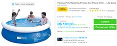 Piscina PVC Redonda Prompt Set Pool 2.490 L << R$ 8632 >>