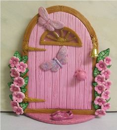 Another Pink Fairy Door with Shoes by PatsParaphernalia, via Flickr