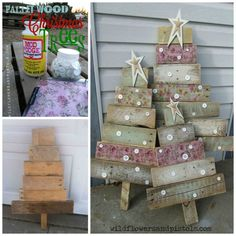 DIY Pallet Trees...these are the most creative Christmas Tree Ideas!