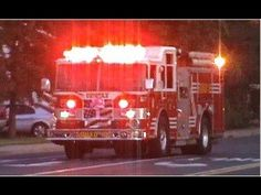 Engine 42, Truck 3, Squad 1, Ambulance 42 Responding Out of Fire Station, Truck 6 Going By, Too - YouTube