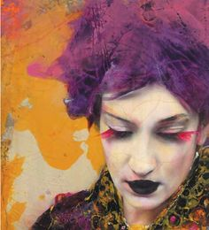 Lita Cabellut born a gipsy girl in the streets of El Raval in Barcelona, Cabellut was adopted at the age of Spanish Painters, Spanish Artists, Portrait Art, Portraits, Pablo Picasso, Javier Marin, Jolie Photo, Color Of Life, Black Art
