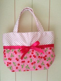 Gorgeous girls bag Cherry bag £6.50 www.thepinkpartyboxcompany.co.uk