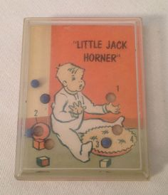 "Vintage+hand+held+""Little+Jack+Horner""+ball+puzzle+game+#ComonTatarInc"