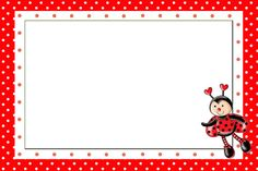 stickers for party favors ladybug Bird Party, Ladybug Party, Ladybug Invitations, Ladybug Jewelry, San Antonio, Diy And Crafts, Paper Crafts, Cute Cartoon Girl, Classroom Labels
