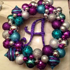 Purple teal & silver - love the colours