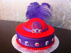 60th Birthday Cake for a member of the Red Hat Society