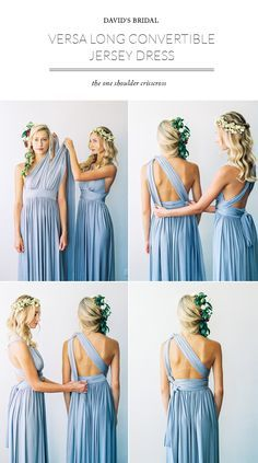 How to style the Versa Long Convertible Jersey Dress by David's Bridal: The One Shoulder CrissCross / Styled by 100 Layer Cake / Photo Braedon Flynn