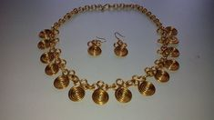 HOW TO MAKE A SET OF NECKLACE AND GRECO-ROMAN EARRINGS