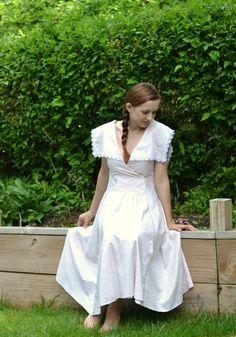Gunne sax by Jessica Mc Clintock vintage dress white shabby