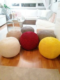 Puf Puff, Fall Decor, Throw Pillows, Bed, Home, Tricot, Trapillo, Amigurumi, Toss Pillows