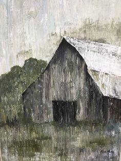 Old Barns, Country Barns, Primitive Painting, Barn Art, Palette Knife Painting, A Level Art, Canvas Designs, Pallet Art, Art Wall Kids