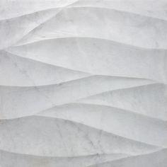 Artistic Tile  Ambra Bianco Carrara Marble  Honed and Polished Dimensional Field Tile  12x12