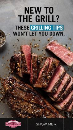Considering grilling meat delivery or looking for the best grilling gifts for Dad? Start with this easy-to-read steak grilling guide by Omaha Steaks. You'll learn how to grill the perfect steak, how to choose the best steaks for grilling, and just what to Best Cut Of Steak, Best Grilled Steak, Great Steak, Grilled Meat, Grilling The Perfect Steak, How To Grill Steak, Steaks On The Grill, Bbq Steak, Bbq Grill