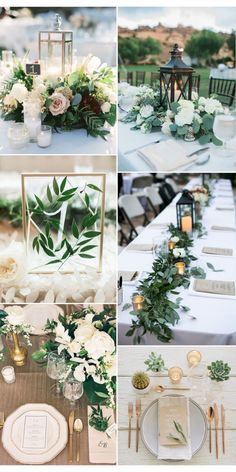 Prettiest Spring Ideas---greenery wedding decorations in centerpieces, table. Prettiest Spring Ideas—greenery wedding decorations in centerpieces, table… Prettiest Spring Ideas—greenery wedding decorations in centerpieces, table numbers with acrylic Green Wedding Decorations, Wedding Themes, Inexpensive Wedding Centerpieces, Inexpensive Wedding Flowers, Gold Wedding Theme, Wedding Favours, Formal Wedding Decor, Wedding Reception Decorations On A Budget, Weding Decoration