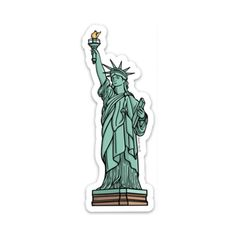 The Statue of Liberty Sticker – blank tag co. Stickers Cool, Cute Laptop Stickers, Red Bubble Stickers, Macbook Stickers, Tumblr Stickers, Phone Stickers, Funny Stickers, Printable Stickers, Arte Copic