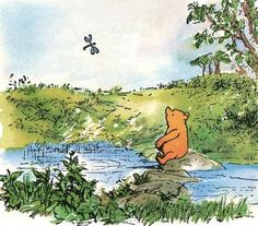Pooh with dragonfly❤️!-People say nothing is impossible, but I do nothing every day. Milne, Winnie-the-Pooh Winne The Pooh, Winnie The Pooh Quotes, Pooh Bear, Tigger, Eeyore, Tao Of Pooh, House At Pooh Corner, Hundred Acre Woods, Diy Inspiration