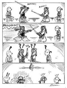 Hahahaa.... Kendo, Warrior Pose, Samurai Warrior, Martial Arts Quotes, Special Ops, Pints, Aikido, Hilarious, Funny