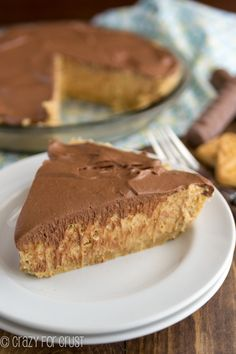 Peanut butter and Twix: It has a shortbread crust and a chocolate top. Take a moment to reflect.